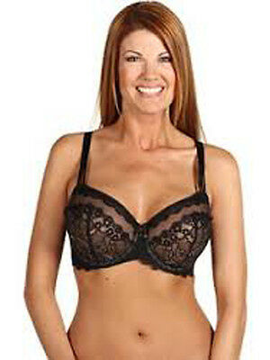 279877e764 WACOAL 40C Feather EMBROIDERY Bra FULL COVER 85121 UW Beige Unlined Cup EUC.