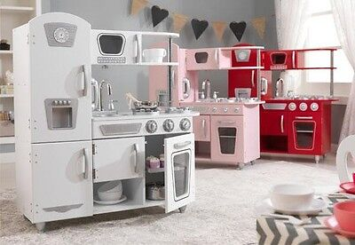 KidKraft - Vintage Pretend Play Kitchen for kids | Pink, White or Red colours