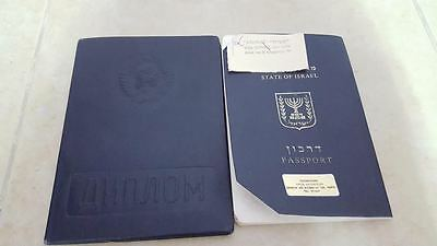 1982 PASSPORT Not Valid ISRAEL CANCELLED   + visas & stamps& document