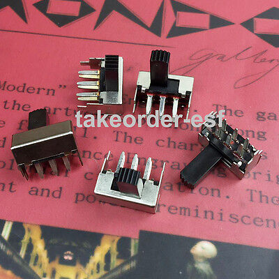 SK-22F05  Slide Switch DPDT Through Hole, Right Angle 10 Pcs