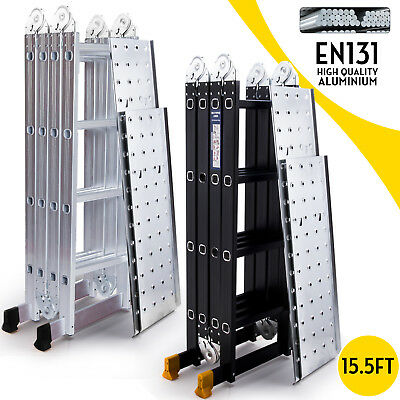 14.5FT 15.5FT Aluminum Multi Purpose Ladder Extension Folding Telescoping