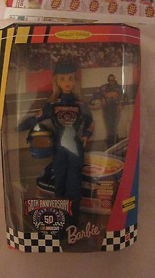 Nascar Barbie Doll 50th Anniversary Collector Edition From Mattel 1998  NEW t226
