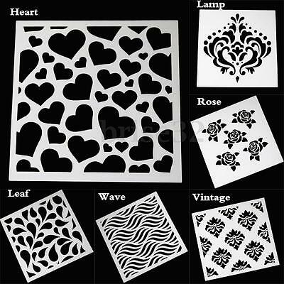 Vintage Stars Heart Layering Stencils Template DIY Scrapbooking Album Painting