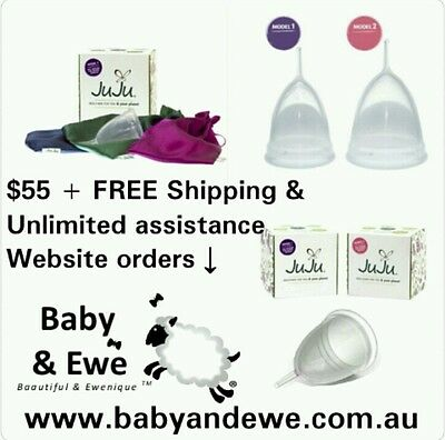 JuJu Menstrual Cup MODEL ONE (1) + PINKY PURPLE *See other items for all options