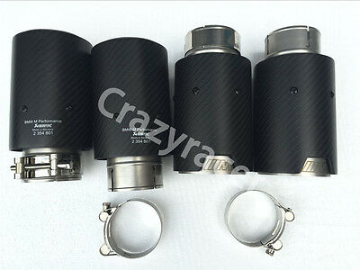 Carbon Fiber M Performance Exhaust Tips Muffler Pipe for BMW M3 M4 M5 M6 (63-93)
