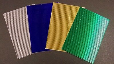 *METALLIC CORRUGATED CARD*  4 Colours - Scrapbooking/Cardmaking/PaperCraft