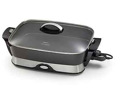 New Skillet Presto 06857 16-Inch Electric Foldaway Skillet Black Frying Pan Home
