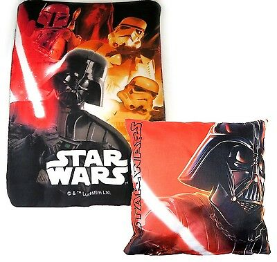 pacco Regalo Star Wars Vader Coperta Plaid in Pile 100x150cm,Cusino 40x40cm