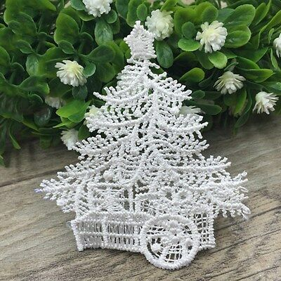 New Lace Patches Christmas Tree Sewing Applique Trims Kids Dress Clothes Decor