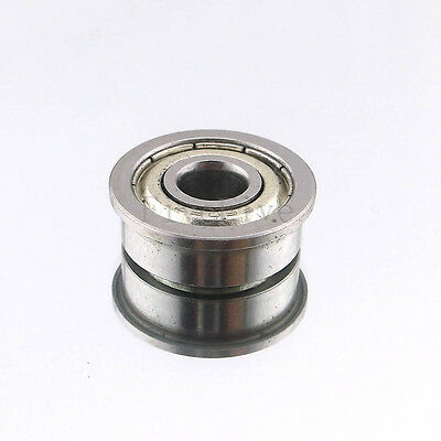 Inner Diameter 2-10mm Miniature Metal Double Shielded Flanged Ball Bearings