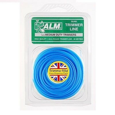 ALM SL002 Replacement Electric or Petrol Strimmer Trimmer Line 1.5mm 30 Metres
