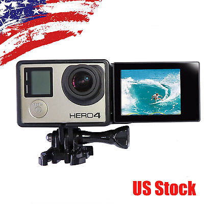 LCD BacPac Display Viewer+Rear Screen Adapter+Camera Frame for GoPro Hero 4 3+ 3