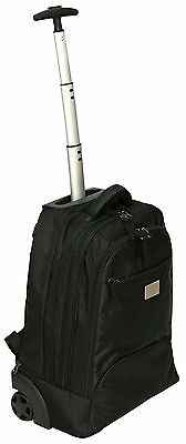 "14-16"" Laptop Trolley Wheeled Backpack Rolling Computer Bag Hand Luggage Case"