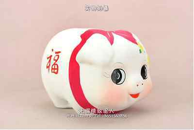 Exquisite Chinese Lovely Handmade Clay piggy bank,Very Good idea for Gift