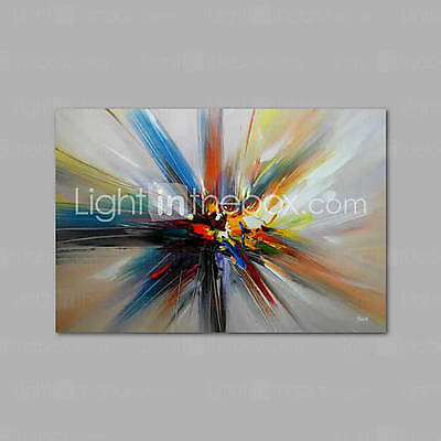 Hand-Painted Oil Painting on Canvas Wall Art Abstract Contempory Blue Orange