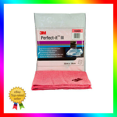 1 x 3M Perfect-it III  50489 Hochleistung-Poliertuch Rosa für 3M 80345 & 09377