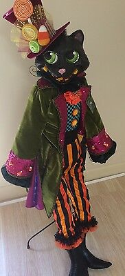 "Katherine's Collection Retired Halloween 60"" Life Size Black Cat Doll Ltd Ed"