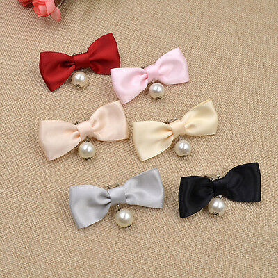1 Pc Charms Pearl Womens Accessories Shoes Decor Ribbon Shoe Clip Removable Bow