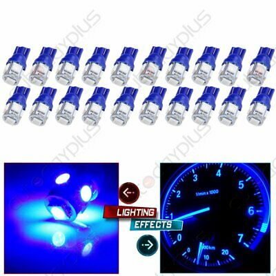 20x ICE BLUE T10 194 5-SMD LED LICENSE TAG//MAP//DOME INTERIOR LIGHTS BULBS W5W