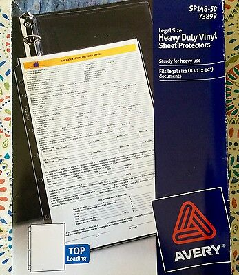 """Avery - Legal Size Protector Sheets, 8.5x14"""", 10 pack"""
