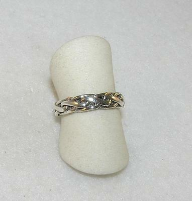 679a9ffda GUCCI *WIDE* BAND Open G Logo Sterling Silver 925 Choose Ring Size ...