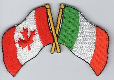 Canada / Ireland Flag Patch Embroidered Iron On Applique Canadian Irish