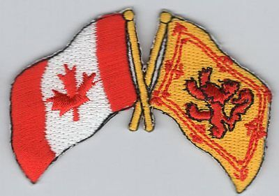 Canada / Scotland Lion Royal Standard Flag Patch Embroidered Iron On Applique