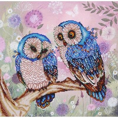 Fabulous owl  Kits for embroidery with  Beaded Beadwork Embroidery New