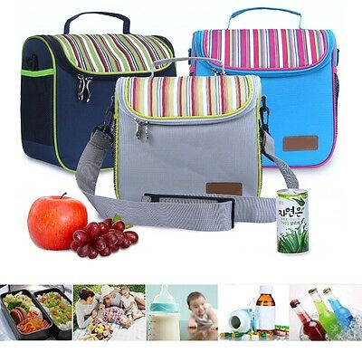 Men Women Insulated Cooler Picnic Thermal Portable Lunch Carry Storage Bag Box