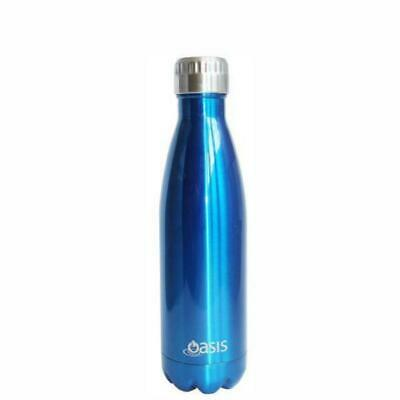 Oasis     Stainless Insulated Water Bottle 500ml - Aqua Blue