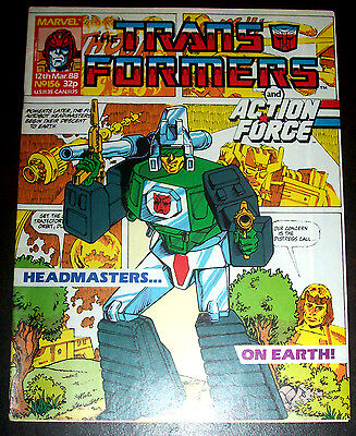 TRANSFORMERS #156 (VF/NM) Copper-Age Issue Marvel UK Decepticons! Autobots! 1988