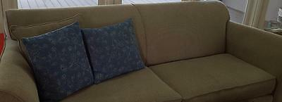 Great Gently Used Sofa - Full Size - Contemporary Lines - VGC - Neutral Beige