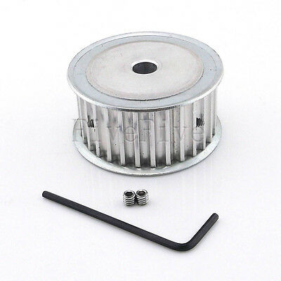 HTD 5M 30T 30-Teeth 21mm-Width Aluminum Timing Belt Drive Pulley CNC Choose Bore