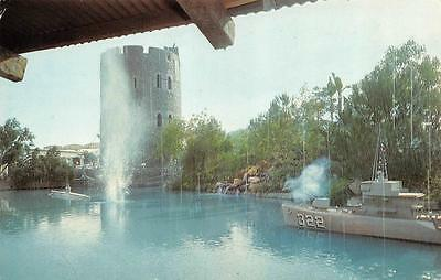 California,    UNIVERSAL CITY STUDIOS-Castle, Ship & Submarine   1968 Postcard