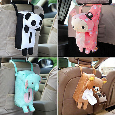 Home Office Car Adorable Tissue Box Cover Holder Paper Box Bathroom Storage