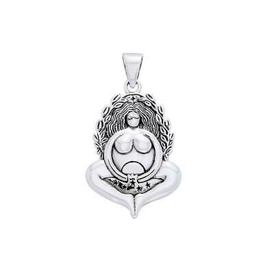 Mother Goddess Pagan Wiccan .925 Sterling Silver Pendant by Peter Stone Jewelry