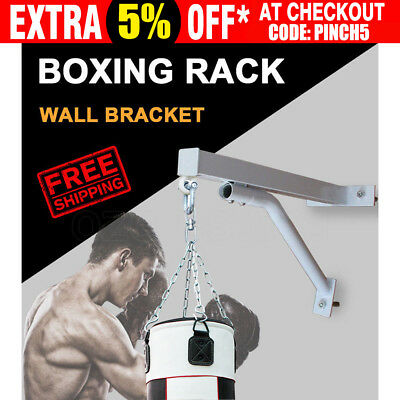 Heavy Duty Punch Bag Wall Bracket Steel Mount Hanging Boxing Stand Training AU