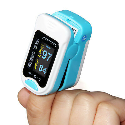CE FDA FingerTip Pulse Oximeter Blood Oxygen Saturation SPO2 PR Monitor Oxymeter