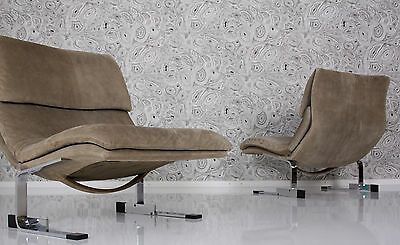 pair of 70s ONDA lounge chairs by G Offredi for Saporiti 70er 2 fauteuils a 70