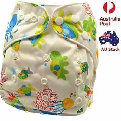 Unisex Baby Modern Cloth Nappies Nappy Adjustable Washable Diaper (D73)
