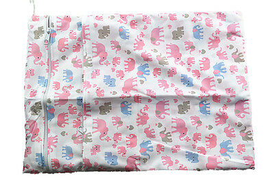 Reusable Baby Cloth Diaper Nappy Wet & Dry Bags Bag Swimmer Zipper Tote For Girl