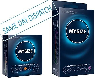 MY SIZE CONDOMS - 47mm 49mm 53mm 57mm 60mm 64mm 69mm Small to XXXL Fast Discreet