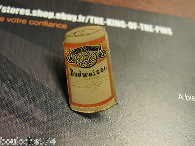 """Pin's /pins / Badge  Bière Beer """" Budweiser Canette  """" Petit Modele"""