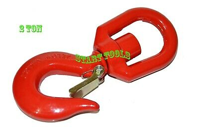 2 Ton Swivel Hook Drop Forged Carbon Steel Swivel Eye Hook w/ Latch G70 Grade