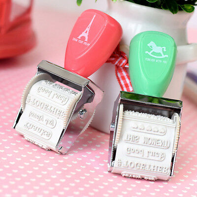 Lovely Date Roller Wheel Seal Cartoon DIY Stamp Schools Supply Diary Decoration