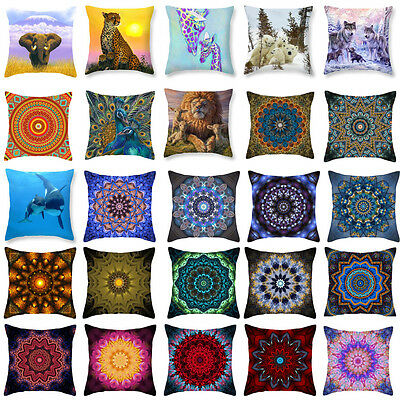 Colorful Datura Pattern Polyester  Pillow Case  Cushion Cover Home Decor