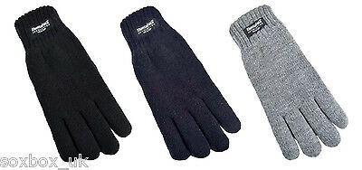 Boys Kids Thinsulate 3M 40 gram Thermal Insulation Knit Winter Gloves 3 colours