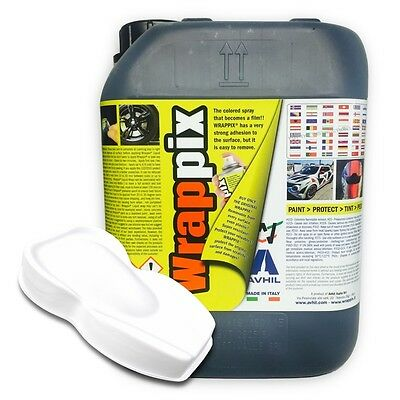 WRAPPIX Liquid Wrap 5 litri FONDO BIANCO PRONTO ALL'USO Plastidip 5lt