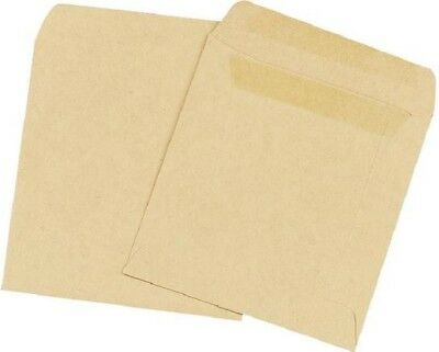 1000 x Q-Connect Plain Manilla Self-Seal Wage Envelope | 108 x 102mm – KF3420