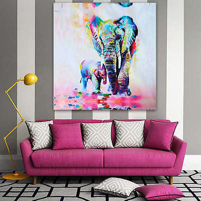 Unframed Watercolor Elephant Canvas Prints Modern Art Picture Wall Decor Room